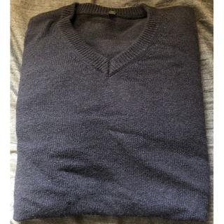 ムジルシリョウヒン(MUJI (無印良品))の無印良品 ウール アルパカ Vネック セーター M ネイビー(ニット/セーター)
