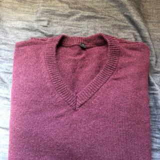 ムジルシリョウヒン(MUJI (無印良品))の無印良品 ウール アルパカ Vネック セーター M ボルドー(ニット/セーター)