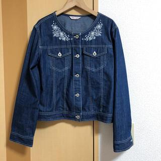 シマムラ(しまむら)のLサイズ♡刺繍入りGジャン 秋春羽織り アウター 上着 しまむらアベイル(Gジャン/デニムジャケット)