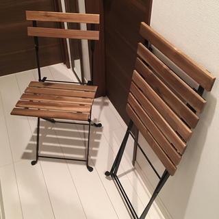 イケア(IKEA)のIKEA ヴィンテージ加工折りたたみ椅子 2脚セット(折り畳みイス)