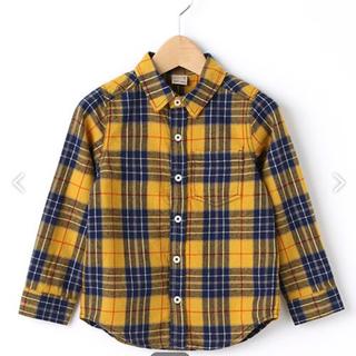 プティマイン(petit main)のプティマイン チェックシャツ イエロー(Tシャツ/カットソー)