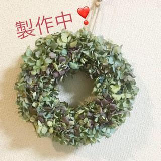 秋色紫陽花のドライリースワイン&グリーン(ドライフラワー)