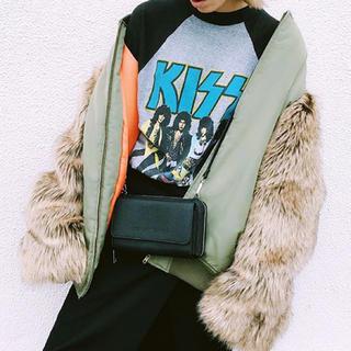 クマタン(KUMATAN)の袖ファーMA-1(ミリタリージャケット)