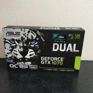 エイスース(ASUS)のASUS GEFORCE GTX 1070 8GB DUAL(PCパーツ)