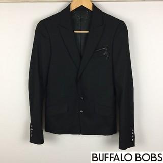 バッファローボブス(BUFFALO BOBS)の美品 バッファローボブズ テーラードジャケット ブラック サイズ1(テーラードジャケット)