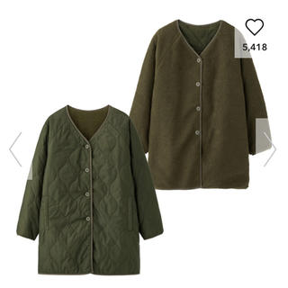 ジーユー(GU)のはる様 専用  キルティングコート(ミリタリージャケット)