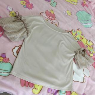 ストロベリーフィールズ(STRAWBERRY-FIELDS)のフワフワリボンTシャツ(Tシャツ(半袖/袖なし))