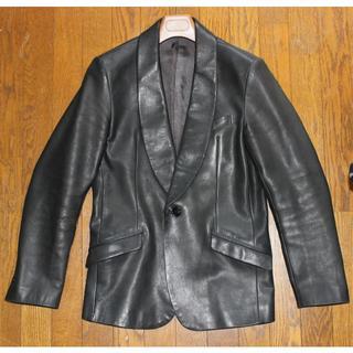 イサムカタヤマバックラッシュ(ISAMUKATAYAMA BACKLASH)のバックラッシュ 牛革レザージャケット テーラードジャケット メンズ ブラック 黒(レザージャケット)