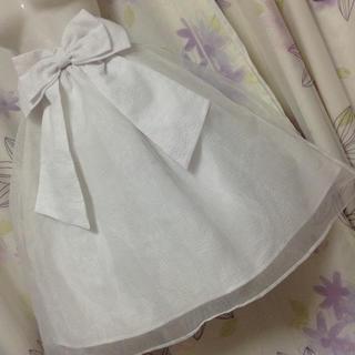 リズリサ(LIZ LISA)のリズリサ  バック ビッグリボン オーガンジー重ね スカート(ひざ丈スカート)