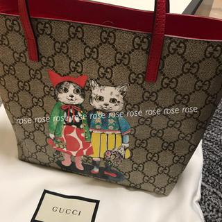 グッチ(Gucci)の新品未使用/GUCCI グッチ チルドレン トートバッグ 赤 ヒグチユウコ ネコ(トートバッグ)