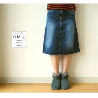 ディーエムジー(D.M.G)のドミンゴA ラインデニムスカート(ひざ丈スカート)