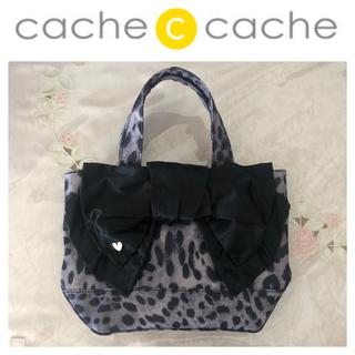 カシュカシュ(Cache Cache)のcache cache   レオパード柄  リボンバッグ(ハンドバッグ)