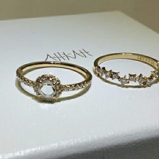 アーカー(AHKAH)のAHKAH アーカー ヴィヴィアンローズリング k18 ダイヤモンド 美品(リング(指輪))