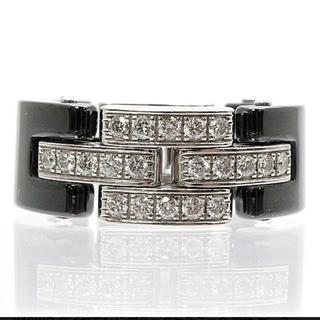 カルティエ(Cartier)の正規品 カルティエ マイヨンパンテール リング #49/9 ブラックセラミック(リング(指輪))