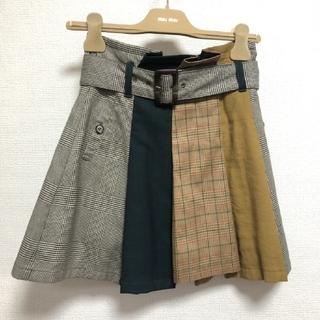 レディアゼル(REDYAZEL)のREDYAZEL チェック柄配色スカート(ミニスカート)