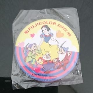 シラユキヒメ(白雪姫)のフジカラー 白雪姫 七人の小人 缶バッジ ディズニー オールド レトロ 昭和(キャラクターグッズ)