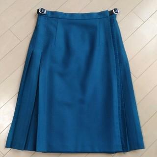 オニール(O'NEILL)の極美品 オニールオブダブリン グリーン プリーツ巻スカート(ひざ丈スカート)