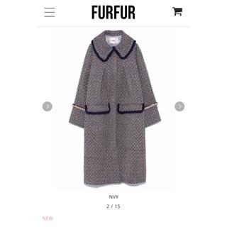 ファーファー(fur fur)の2018AW新作/FURFUR/ツイードコート(ロングコート)