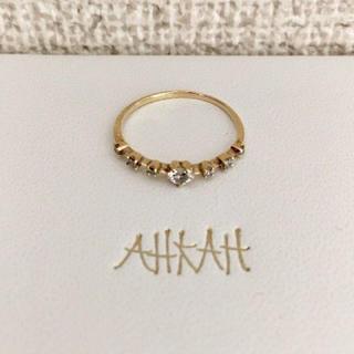 アーカー(AHKAH)のAHKAH アーカー レメディ リング K18YG 0.15ct 0.7g(リング(指輪))