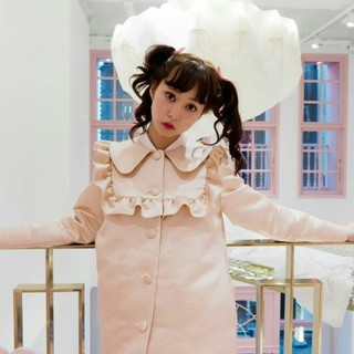 シロップ(syrup.)の【本日限定価格】fluffy ribbon coat(ロングコート)