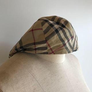 バーバリー(BURBERRY)の英国製 バーバリーロンドン ノバチェック ハンチングキャップ(ハンチング/ベレー帽)