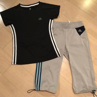 アディダス(adidas)のアディダス★トレーニング用ハーフパンツ&Tシャツ、Sサイズ(ハーフパンツ)