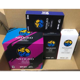 ネオジオ(NEOGEO)のNEOGEO mini インターナショナル版 PAD2種 HDMIケーブルセット(家庭用ゲーム本体)