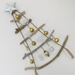 流木ツリー˚✧₊⁎ウォールツリー 西海岸インテリア クリスマスツリー ナチュラル(インテリア雑貨)