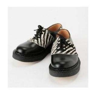 ジョージコックス(GEORGE COX)のGAUNTLETS×ジョージコックスゼブラハラコシューズ*george cox(ローファー/革靴)