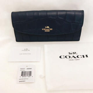 コーチ(COACH)の【新品】コーチ 長財布 ブラック(財布)