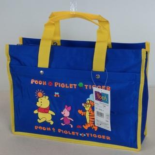 ディズニー(Disney)のレッスンバッグ  くまのプーさん 黄 7216 ブルー  Disney通園・通学(通園バッグ)