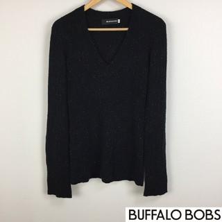 バッファローボブス(BUFFALO BOBS)の美品 バッファローボブズ 長袖ニット ブラック ラメ入 サイズ2(ニット/セーター)