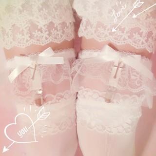 ballerina guarder .*ホワイト両足set(レッグウェア)