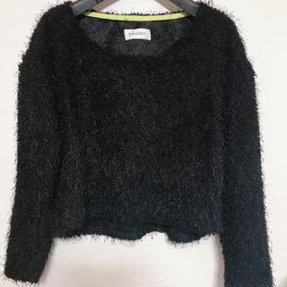スマディー(SMADDY)の美品♡SMADDY シャギーニット  ブラック(ニット/セーター)