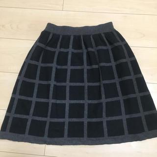 ジエンポリアム(THE EMPORIUM)のニット スカート チェック(ひざ丈スカート)