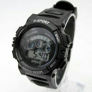 キッズ ウォッチ デジタル 子供用 腕時計 男の子 女の子 人気 ブラック 黒(腕時計)