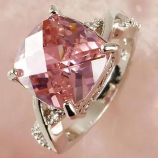 ピンク ホワイト リング 指輪 アクセサリー (リング(指輪))