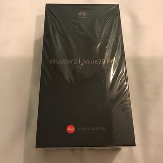 アンドロイド(ANDROID)のHuawei Mate 20 pro 6gb/128gb ブラック 新品未使用 (スマートフォン本体)