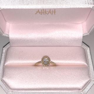 アーカー(AHKAH)の【美品】アーカービリーブインオーバルリングK18YG(リング(指輪))
