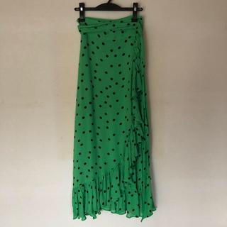 メゾンドリーファー(Maison de Reefur)のGanni ラップスカート 34サイズ(ロングスカート)