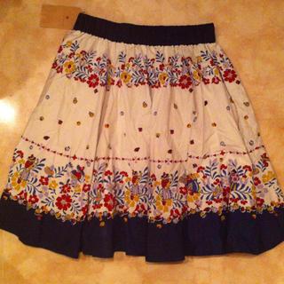 ジエンポリアム(THE EMPORIUM)の花柄スカート(ひざ丈スカート)