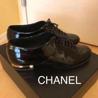 シャネル(CHANEL)のシャネル♡パール付きレースアップシューズ♡(ハイヒール/パンプス)