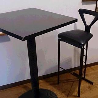 大理石 カウンターテーブルセット(バーテーブル/カウンターテーブル)