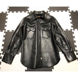 スカルジーンズ(SKULL JEANS)のSkull Jeans 牛革レザーシャツ サイズ36 スカルジーンズ(レザージャケット)