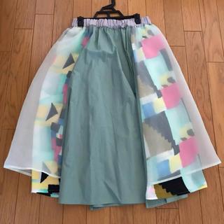 メリージェニー(merry jenny)のメリージェニー はるいろコンビスカート(ひざ丈スカート)