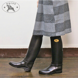 ダフナ(Dafna)のダフナ レインブーツ【黒】(レインブーツ/長靴)