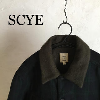 サイ(Scye)のScye   wool check blouson(ブルゾン)