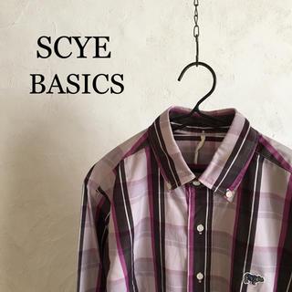 サイ(Scye)のSCYE BASICS  ramie check B.D shirt(シャツ)