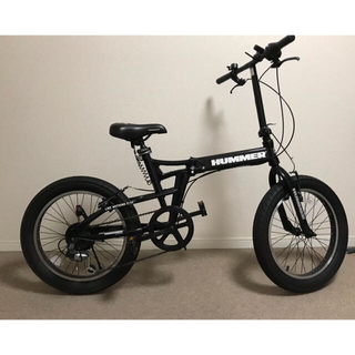 ハマー(HUMMER)のハマー 折りたたみ自転車 20インチ  ファットバイク(自転車本体)