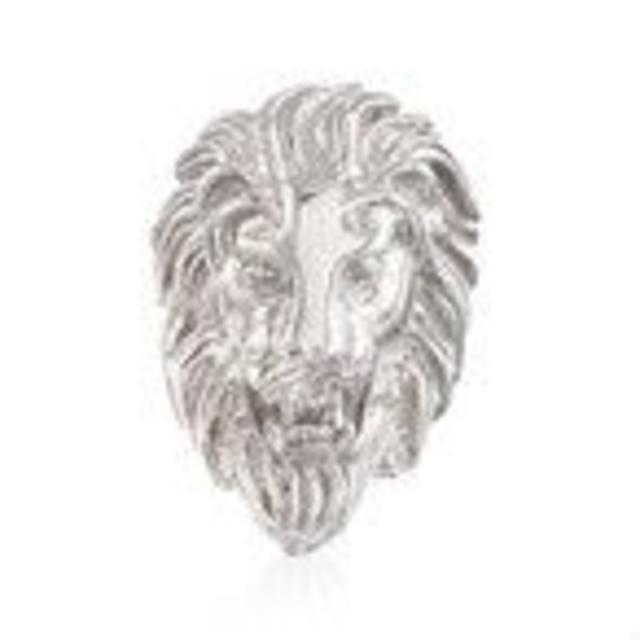 スターリングシルバーライオンリング レディースのアクセサリー(リング(指輪))の商品写真